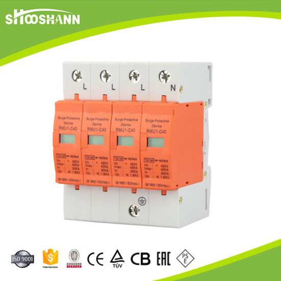 Type 2 Imax 40ka Lightning Protector DIN Rail Surge Arrester pictures & photos