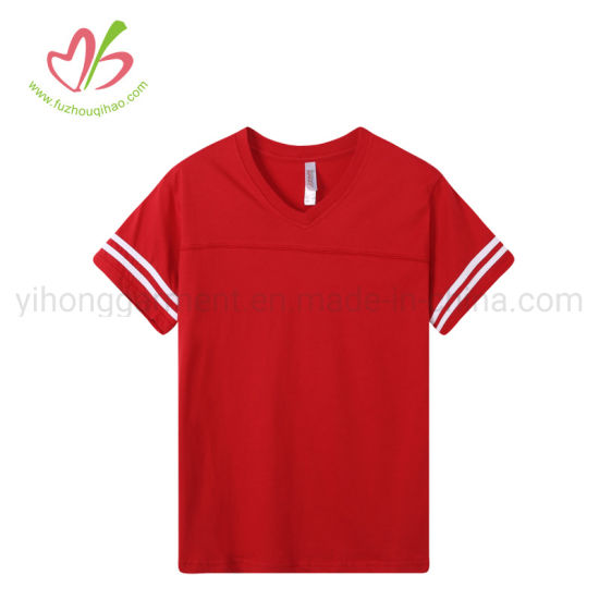 Us Stock Soft Cotton Fabric Leisure Outdoor Tee for Girls