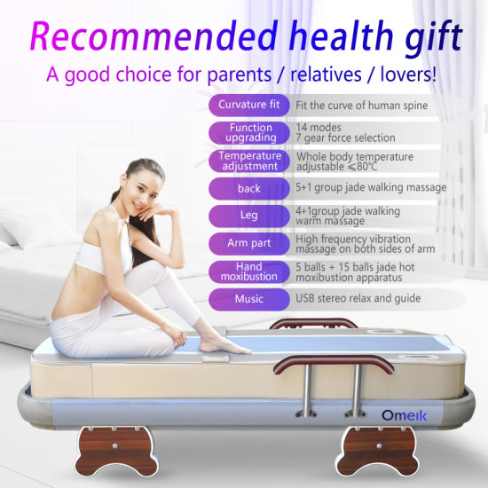 MP3 Infrared Jade Heating Massage Bed, Health Care Massage Bed