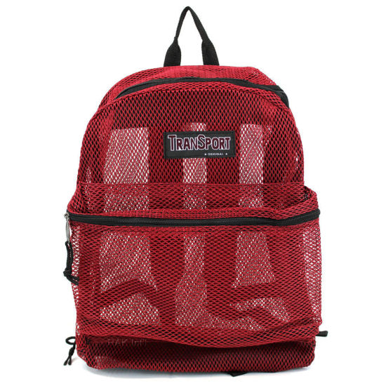 Heavy Duty Transparent Clear Mesh Backpack Beach Bag