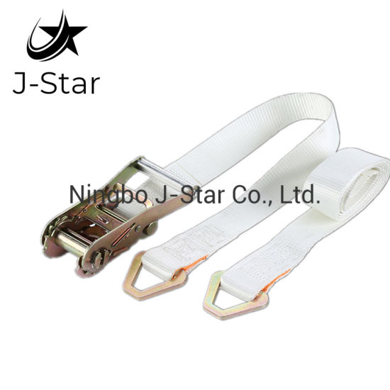 "2"" Polyester Starp Cargo Ratchet Tie Down Lashing Belt"