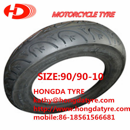 Top Quality 3.00-10 90/90-10 100/80-10 Scooter Tire pictures & photos