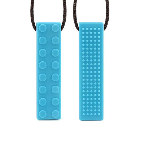 Sensory Chew Necklace Brick Chewy Kids Silicone Biting Pencil Topper Teether Toy pictures & photos