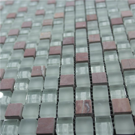 Mosaic for Swimming Pool Glass Mosaic for Swimming Pool Tile Melting Glass Mosaic pictures & photos