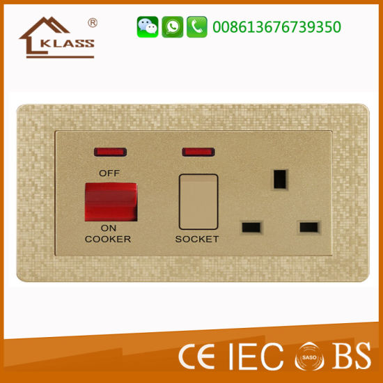 45A 1gang Switch+13A Socket with Neon