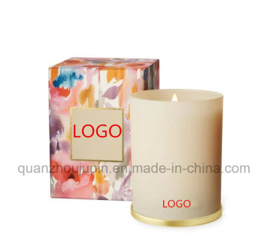 OEM Glass Scented Pillar Fragrant Candle for Promotional Gift pictures & photos