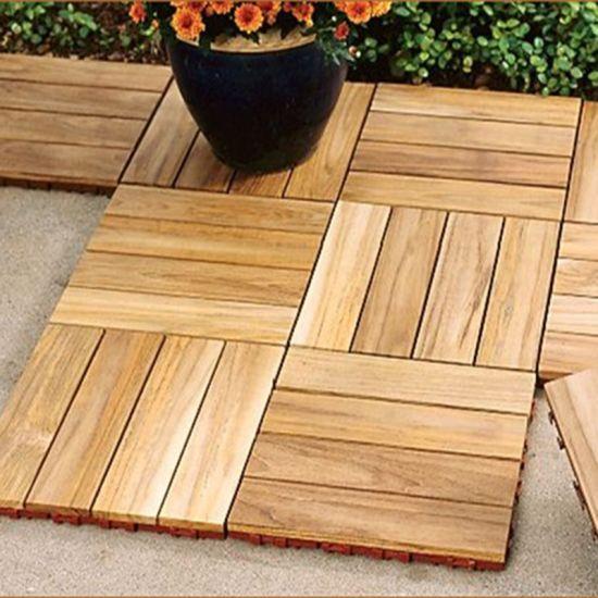 Selected Teak Outdoor Decking Tiles