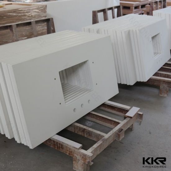 Kitchen Furniture Prefab Sparkle Engineered Stone Quartz Countertop