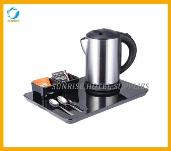 Stainless Steel Electrical Kettle Set with Tray
