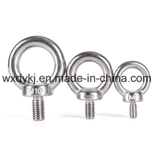 Stainless Steel Special Standard Thread Eye Bolt and Nut