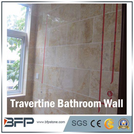 China Beige Travertine Stone Tile for Inside Decoration & Construction Matrial pictures & photos