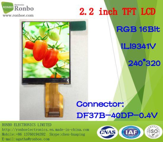 China 2 2 Inch 240*320 RGB TFT LCD Monitor, Ili9341V, 40pin