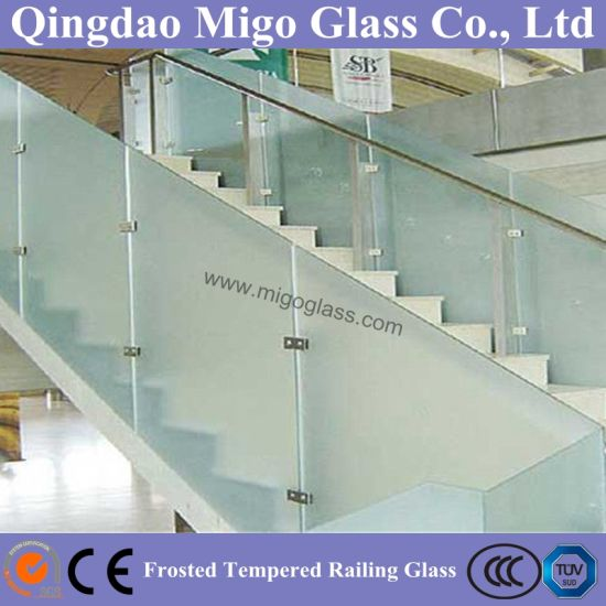 Frosted Toughened Balustrade Glass Used on Balcony or Staircase pictures & photos
