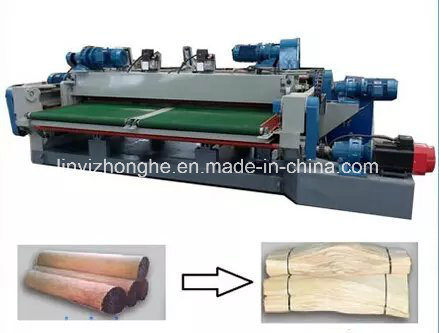 Wood Veneer Rotary Peeling Cutting Machine pictures & photos