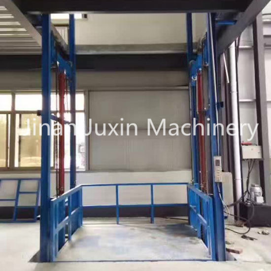 Hydraulic Cargo Lift Guide Rail Lift Goods Lift for Warehouse Gtl2.0-7.5