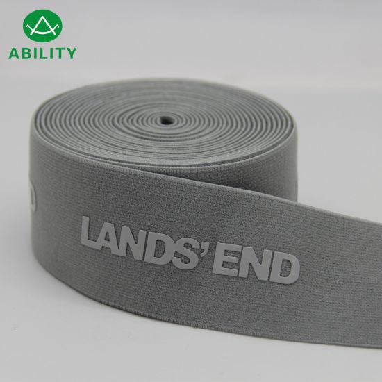 50mm Silicone Jacquard Nylon Waistband Elastic Webbing for Garments