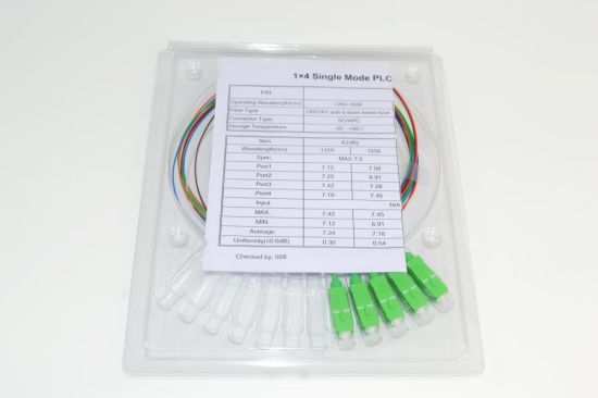 Micro 1X4 PLC Optical Fiber Splitter pictures & photos