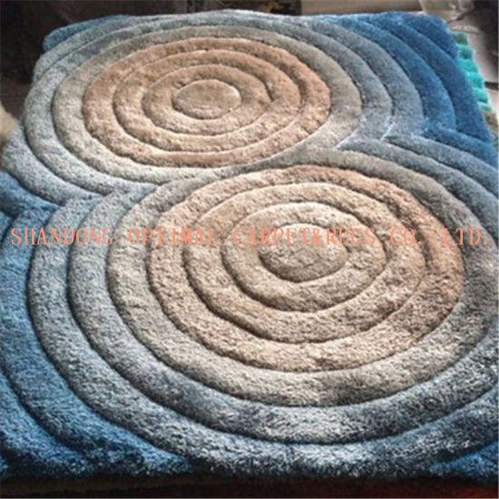 China Long Pile 3D Living Room Shaggy Microfiber Carpet - China