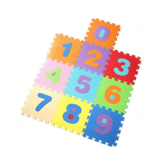China Number Style Kamiqi 100eva Foam Floor Jigsaw Puzzle Mats For