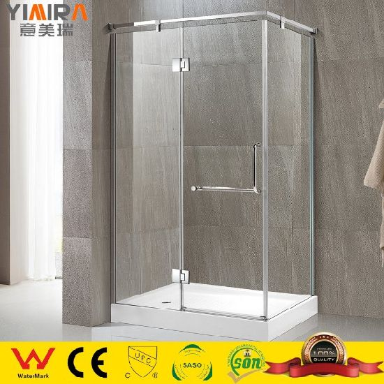 Chrome Stainless Steel Hing Door Shower Cubicles with Tempered Safety Glass