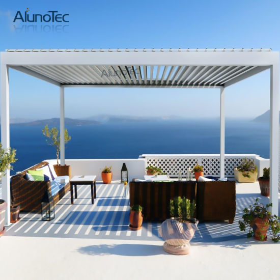 Customized Adjustable Shade Pergola Openable Louvre Roof System