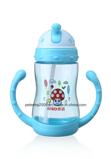 370ml Colorful Plastic Baby Feeding Water Bottle with Handle pictures & photos