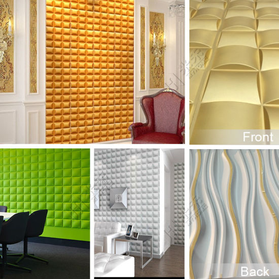 Top Selling Cheap Price Wall Board Interior Walls Ceiling Decorative  Paintable 3D PVC Wall Panel