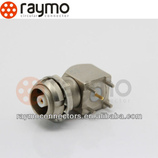 S Series Elbow 90 Degree Socket for Printed Circuit with Two Nuts / Circular Connector pictures & photos