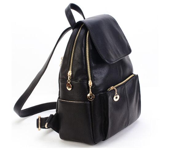 China Female Women Lady Leather Back Pack Backpack Bag - China Lady ... bd724cacb57a