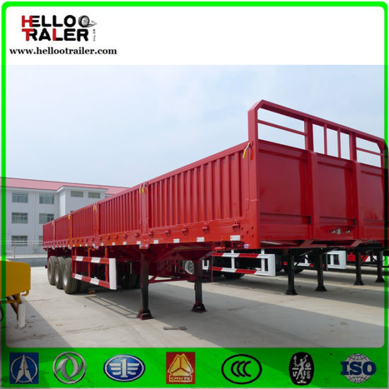 New 3 Axle 60 Ton Curtain Side Trailer For Sale With Detachable Wall