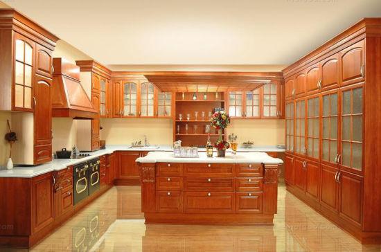 American Villa Teak Wood Kitchen Cabinet