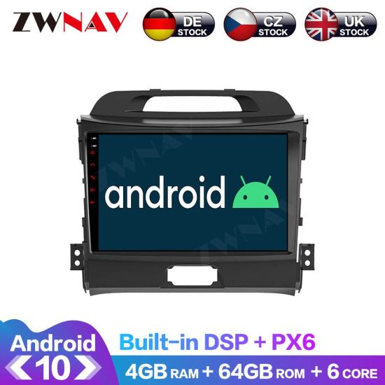 Px6 4+64G Android 10.0 Car Multimedia Player for KIA Sportage 3 2013 2010-2016 Navi Radio Navi Stereo IPS Touch Screen Head Unit