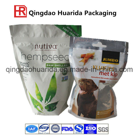Vivid Printing Effect Stand up Pet Food Ziplock Bag pictures & photos