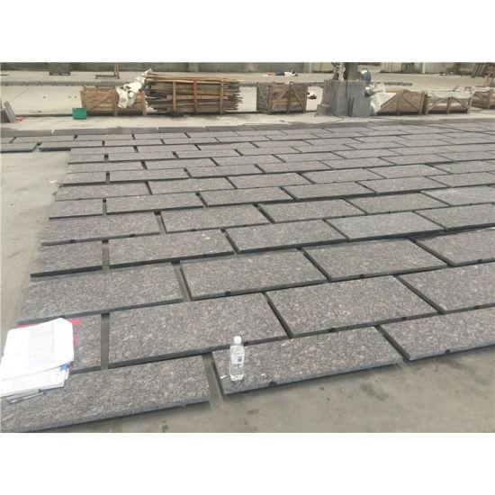 Quality Guaranteed Natural Polished Brown Granite Slab Tiles for Floor