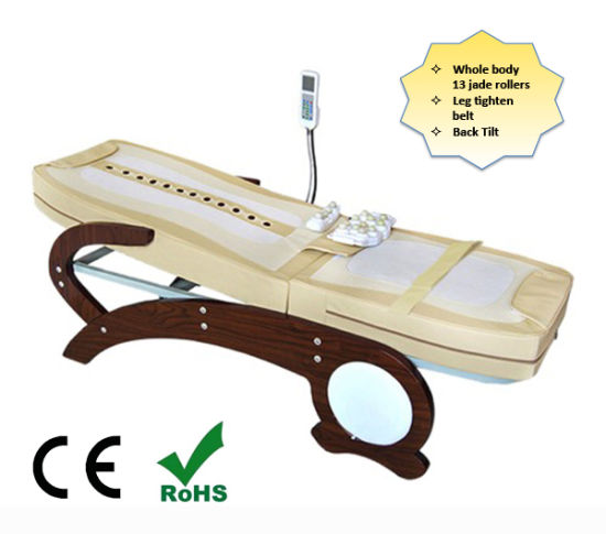 Electric Health Care Full Body Jade Thermal Massage Therapy Bed Automatic Wooden Massage Table with Jade Projectors