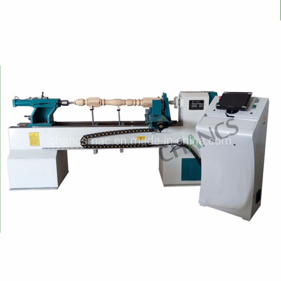 Chancsmac CNC Wood Turning Lathe for Various Cylindrical Work Piece