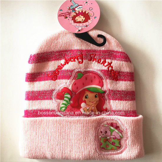 Factory OEM Produce Customized Design Cartoon Knitted Acrylic Jacquard Sports Beanie Hat pictures & photos