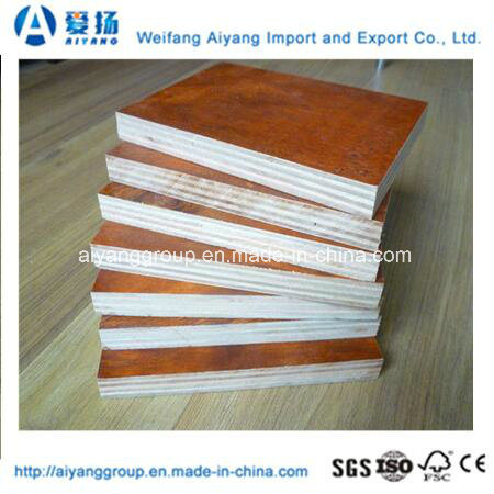 Brown/Black/Red Film Faced Plywood for Construction Application pictures & photos