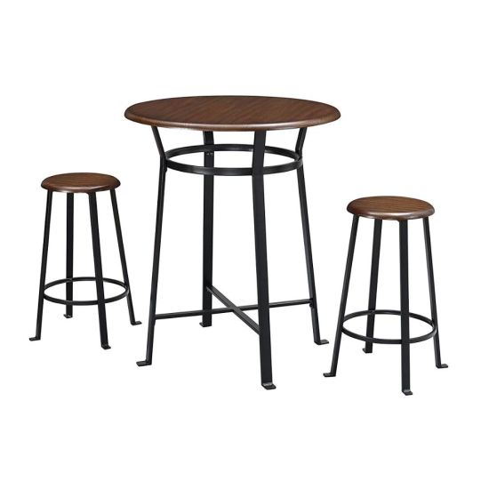 Bar Furniture 3 Piece Metal Round Pub Table Set China Pub Table And Outdoor Furniture Pub Table Price Made In China Com