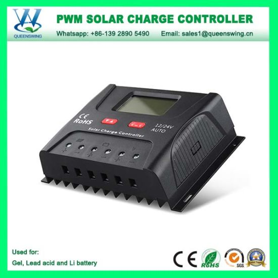Solar Charge Controller 12v 24v 48v 40a 50a 60a Automatic Photovoltaic Solar Panel Battery Street Light Lcd Screen Display Pwm Chargers
