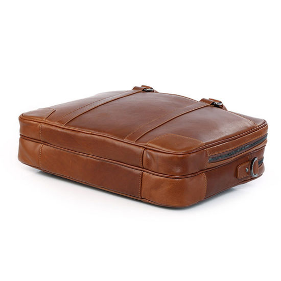 Hot Selling Vintage Brown Leather 15inches Laptop Bag Briefcase for Mens pictures & photos