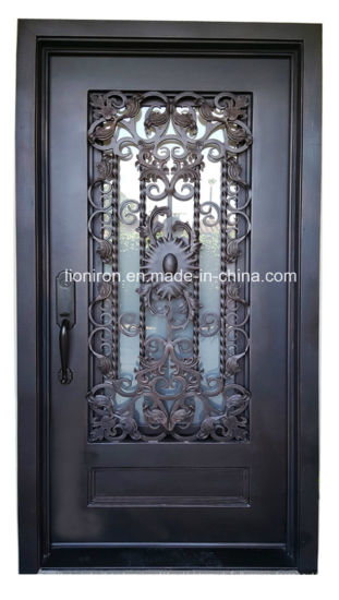 China Custom Hand Forge Wrought Iron Single Exterior Door China