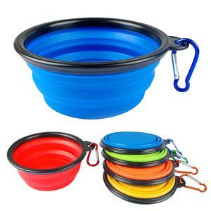 Pet Supply Silicone Puppy Dog Products Food Water Feeder Bowl