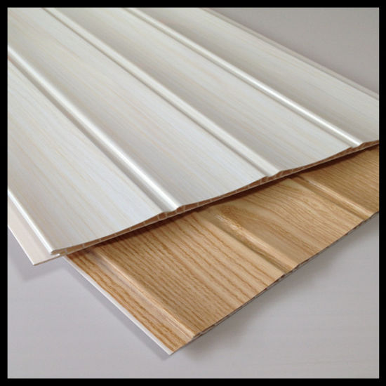Newest 250*8mm Three Grooves Lamianted PVC Wall Panel (HN-2512)