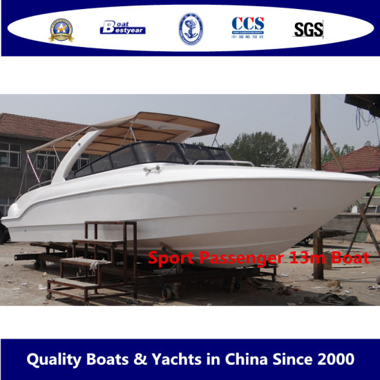 Bestyear Sport Passenger 13m/42FT Fiberglass Speed Sightseeing Motor Patrol Boat pictures & photos