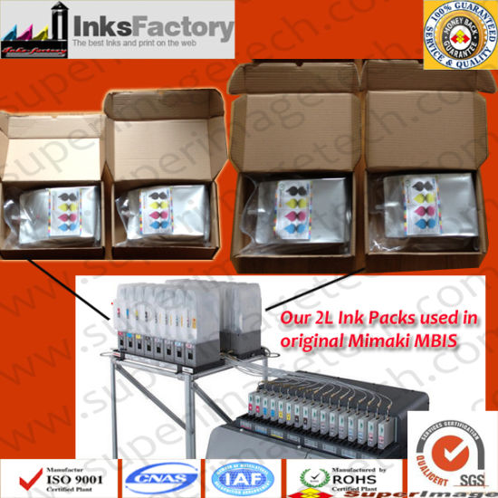 2liter Ink Packs for Mimaki Mbis (SB53 and SB52 SPC-0585)