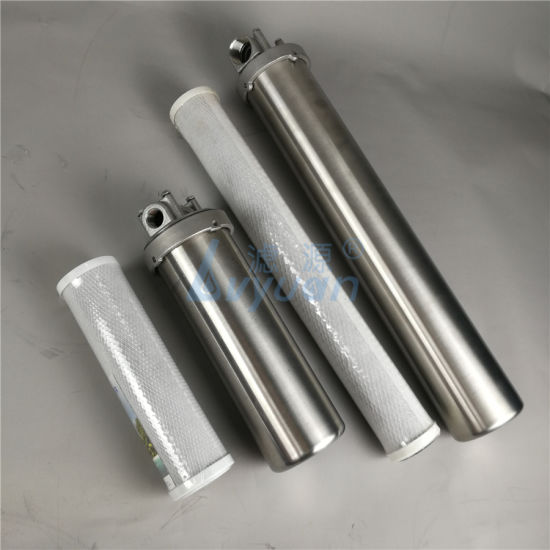 Home/Residential/Domestic Use 10 20 Inch Water Filter Stainless Steel Housing