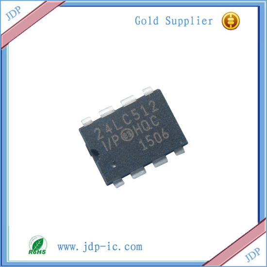 2xMICROCHIP 24LC512 24LC512-I//P EEPROM DIP-8 IC NEW