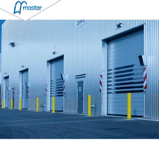 Turbine Motor Garage Thermal Insulated PU Foam Spiral High Speed Hard Fast Rolling Doors
