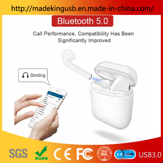 Portable Colorful Charging Case Wireless Bluetooth V5.0 I9 I9s in-Ear Earphone Mini Headset pictures & photos